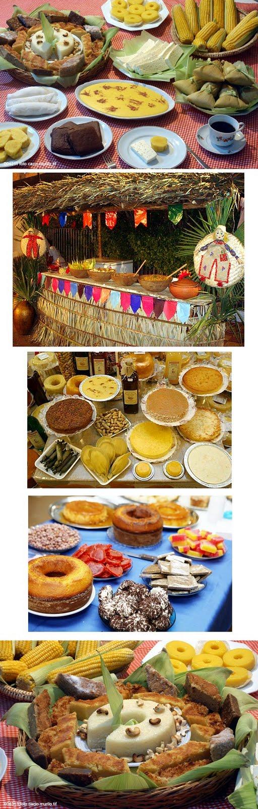 Comidas típicas de São João