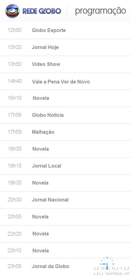 Programação Rede Globo