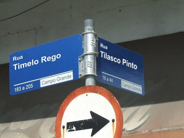 Ruas Timelo Rego e Tilasco Pinto